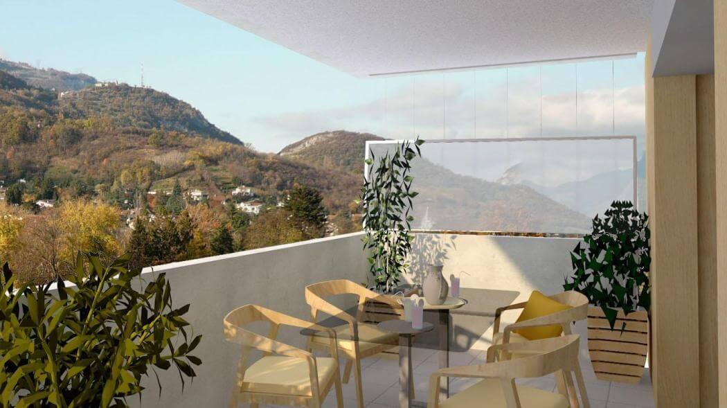 Appartement neuf seyssins vue Vercors