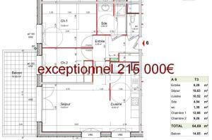 Plan appartement neuf programme immobilier neuf à Seyssins